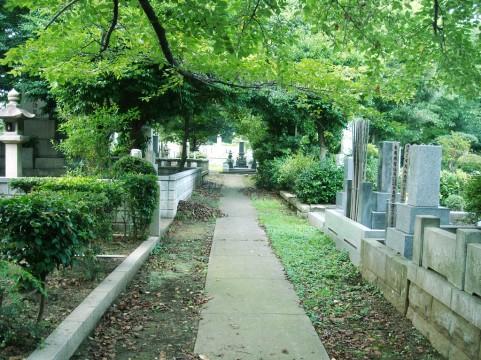 公営墓地風景