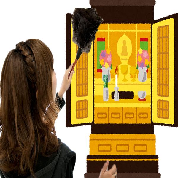 仏壇の大掃除