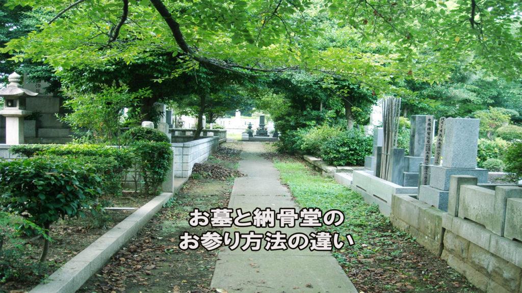 納骨堂とお墓のお参り方法の違い