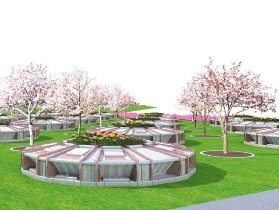 真駒内滝野霊園 樹木葬「さくらガーデン」外観