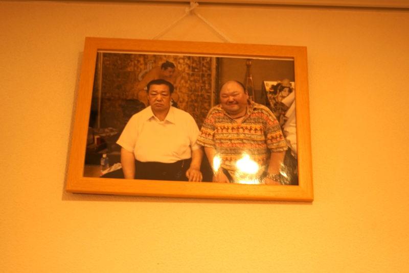 北の湖理事長と住職の写真