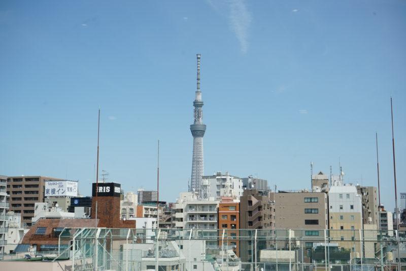 蔵前陵苑納骨堂から見える東京スカイツリー