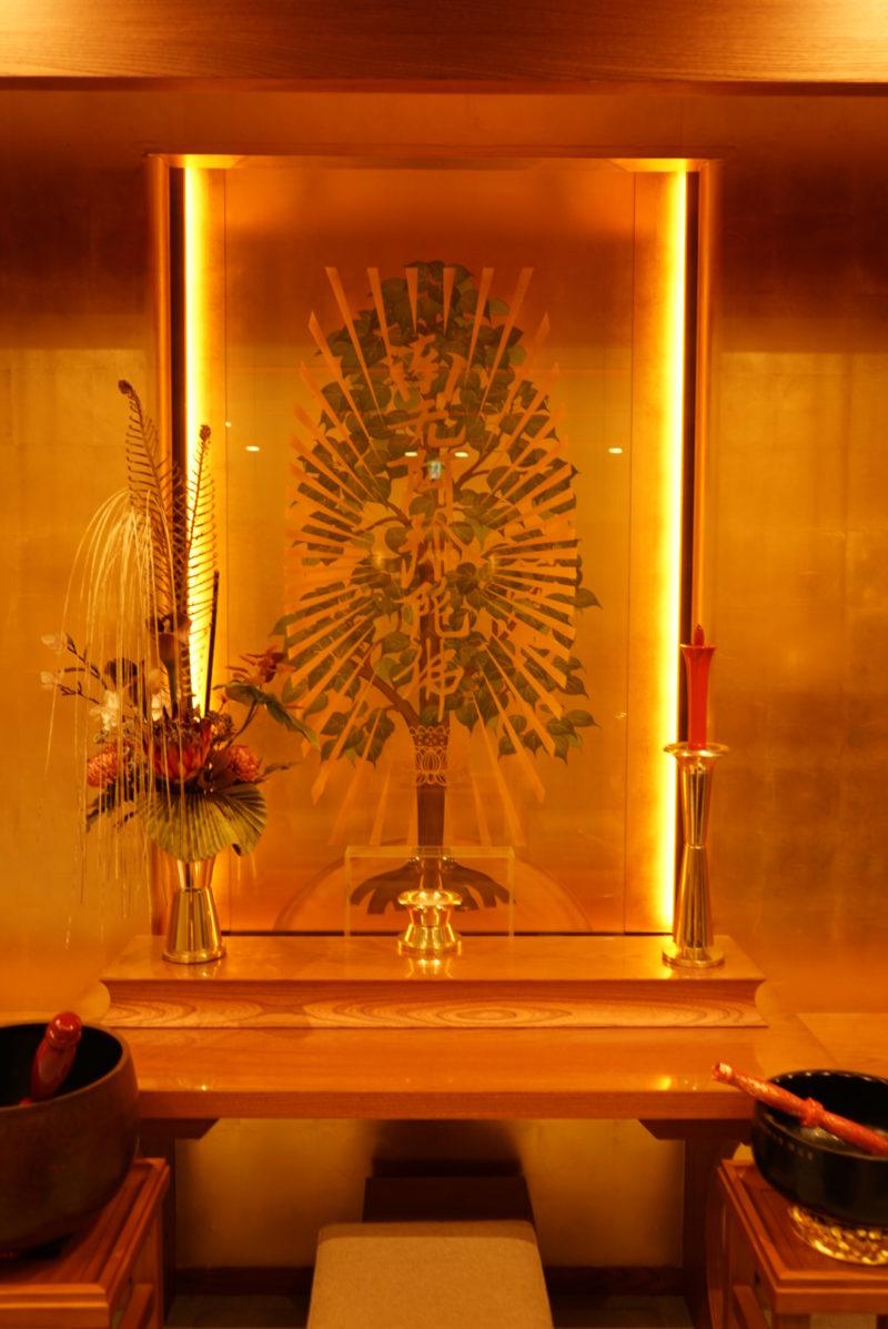在来仏教の各宗派に対応した蔵前陵苑の法要室